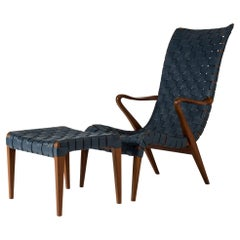Lounge Chair and Footstool by Axel Larsson