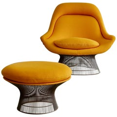 Lounge Chair and Footstool by Warren Platner, 1966