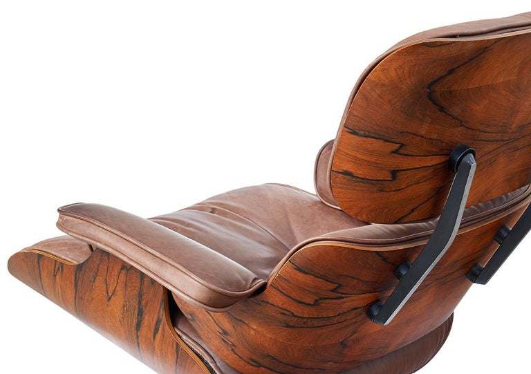 American Lounge Chair and Ottoman by Charles and Ray Eames For Sale