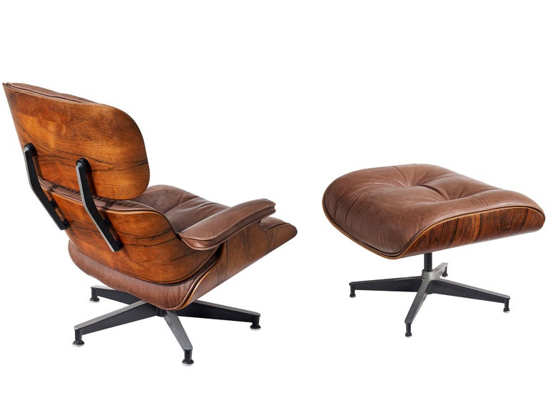 Lounge Chair and Ottoman by Charles and Ray Eames For Sale 1