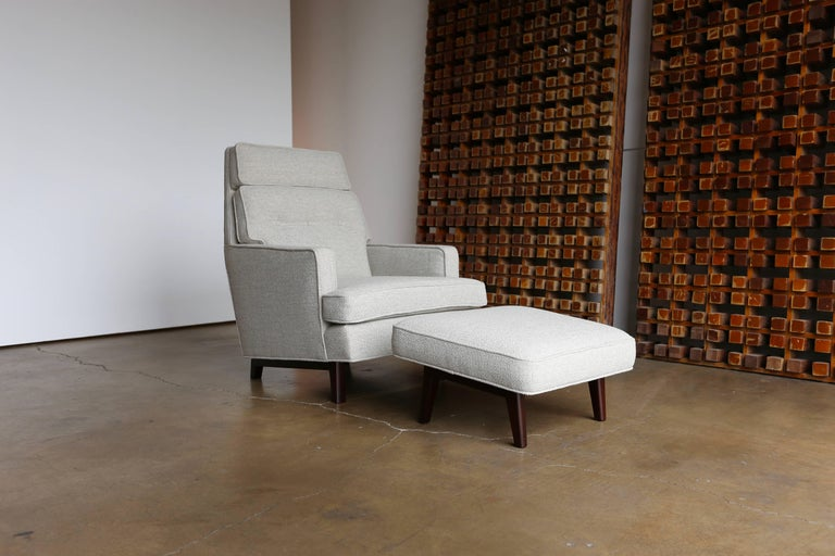 American Lounge Chair and Ottoman by Edward Wormley for Dunbar For Sale
