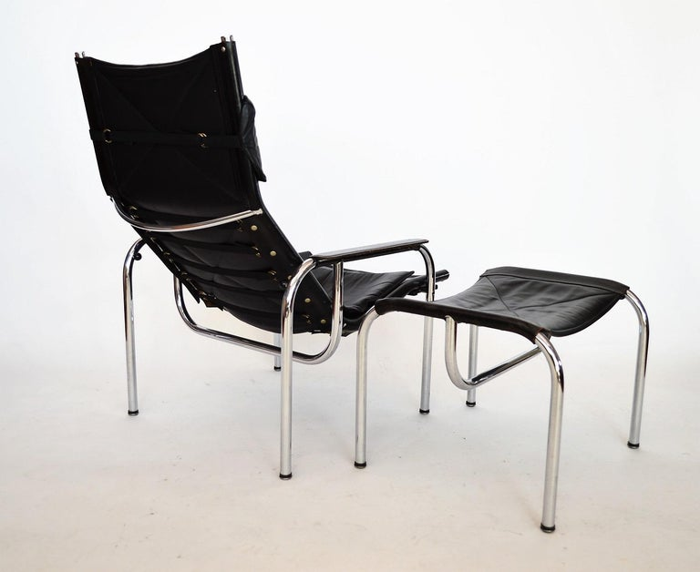 Lounge Chair and Ottoman by Hans Eichenberger for Strässle, 1970s For Sale 3
