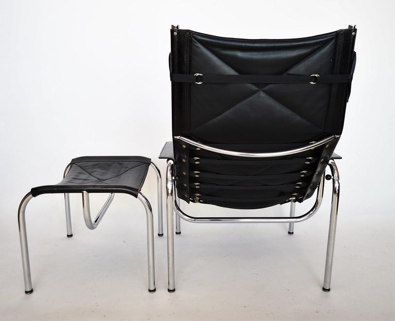 Lounge Chair and Ottoman by Hans Eichenberger for Strässle, 1970s For Sale 5