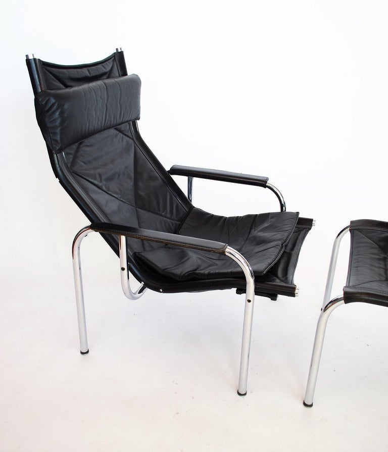 Swiss Lounge Chair and Ottoman by Hans Eichenberger for Strässle, 1970s For Sale