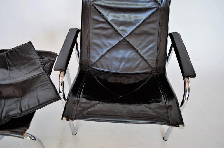 Lounge Chair and Ottoman by Hans Eichenberger for Strässle, 1970s For Sale 1