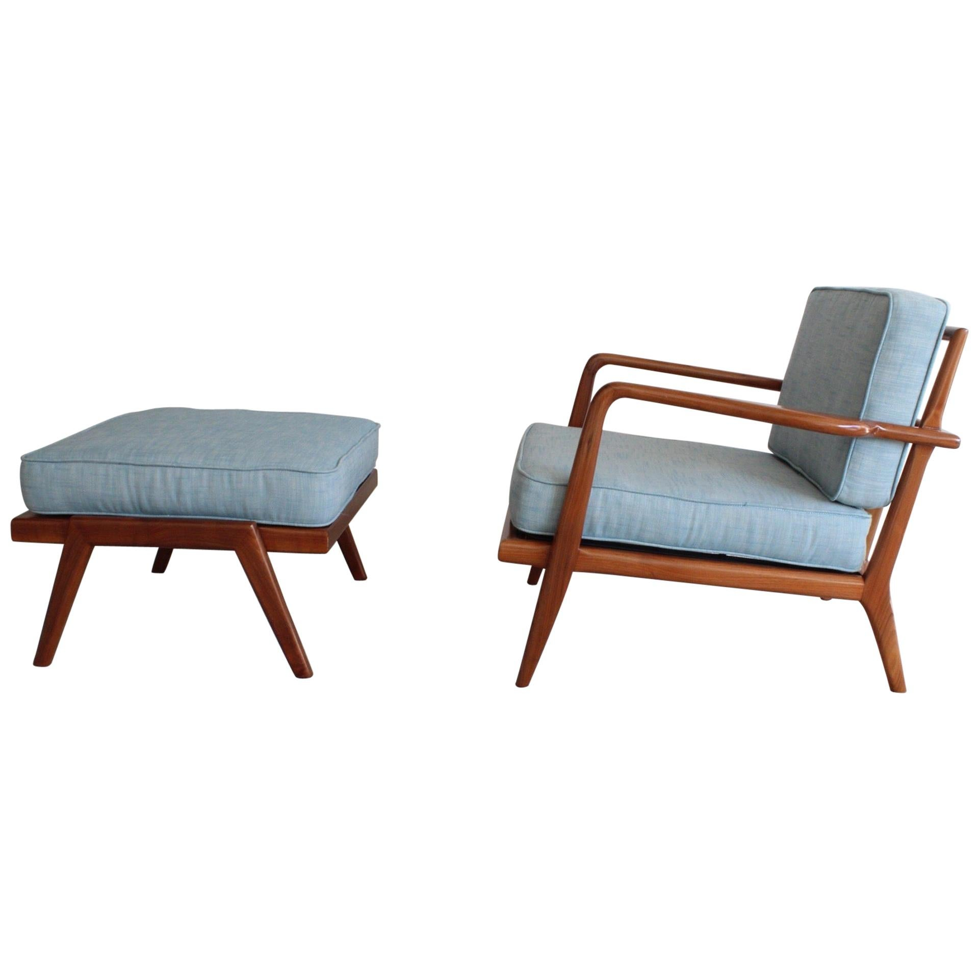 Lounge Chair and Ottoman by Mel Smilow for Smilow-Thielle