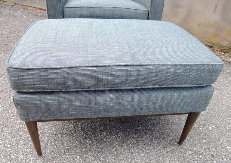 Mid Century Modern Lounge Chair And Ottoman By Paul Mccobb For