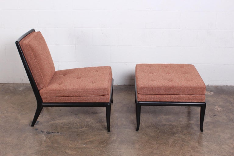 Lounge Chair and Ottoman by T.H. Robsjohn-Gibbings for Widdicomb For Sale 5