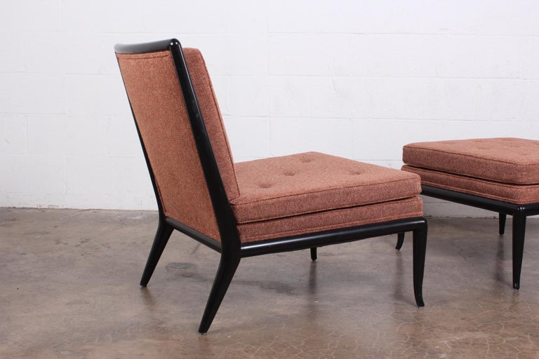 Lounge Chair and Ottoman by T.H. Robsjohn-Gibbings for Widdicomb For Sale 1
