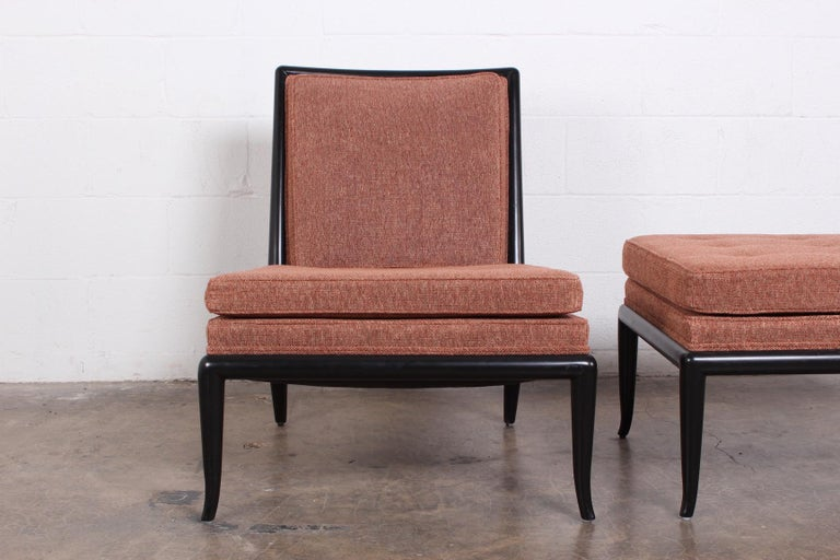 Lounge Chair and Ottoman by T.H. Robsjohn-Gibbings for Widdicomb For Sale 4