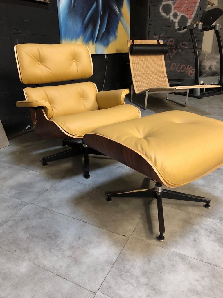Steel Lounge Chair and Ottoman Charles Eames For Sale