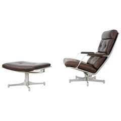 Lounge Chair and Ottoman FK 85, by Preben Fabricius and Jørgen Kastholm, 1960s