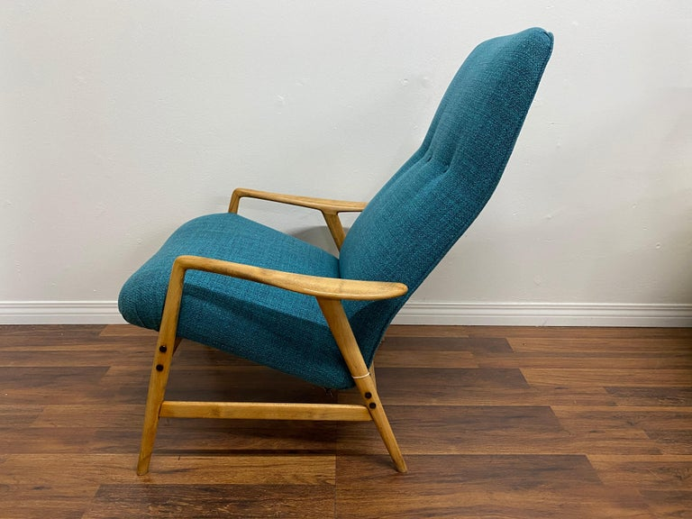 Mid-Century Modern Lounge Chair by Alf Svensson for DUX For Sale