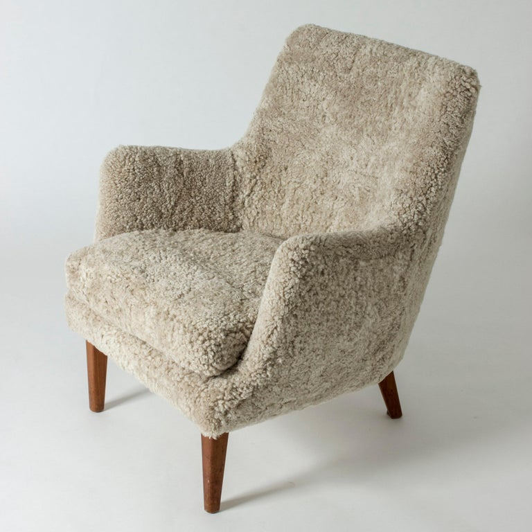 Scandinavian Modern Lounge Chair by Arne Vodder for K. Ivan Schlechter, Denmark, 1950s For Sale