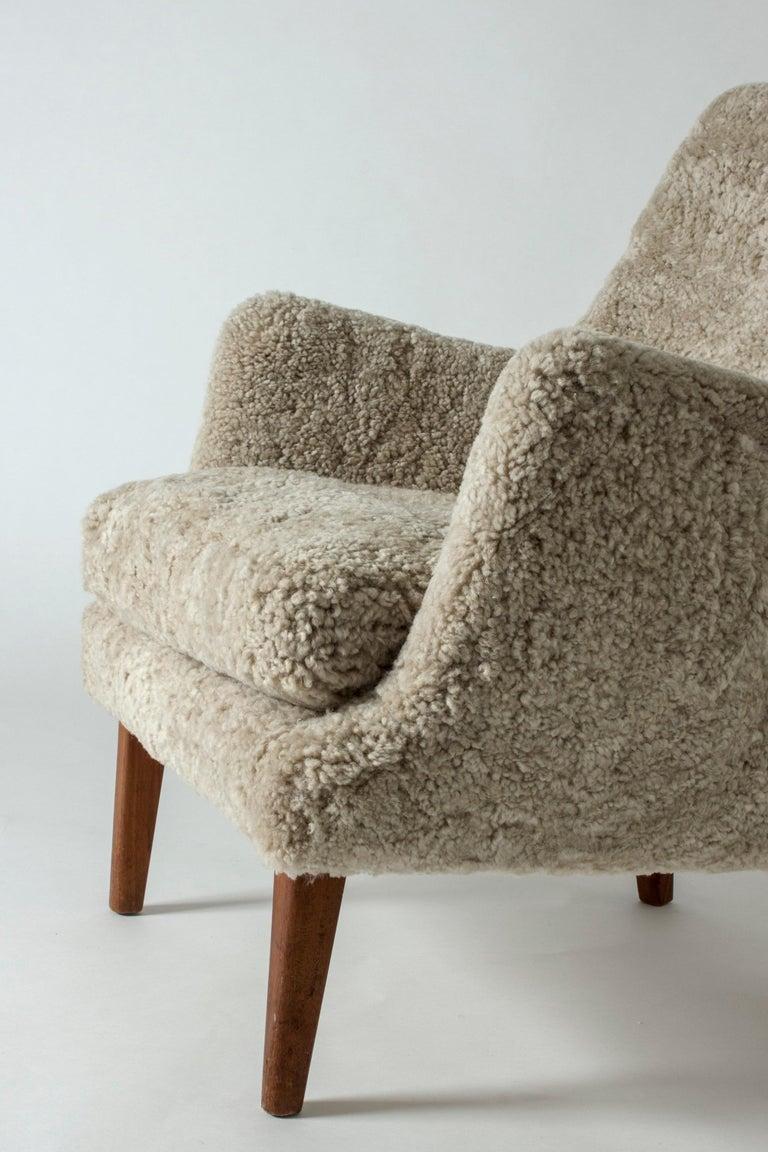 Danish Lounge Chair by Arne Vodder for K. Ivan Schlechter, Denmark, 1950s For Sale