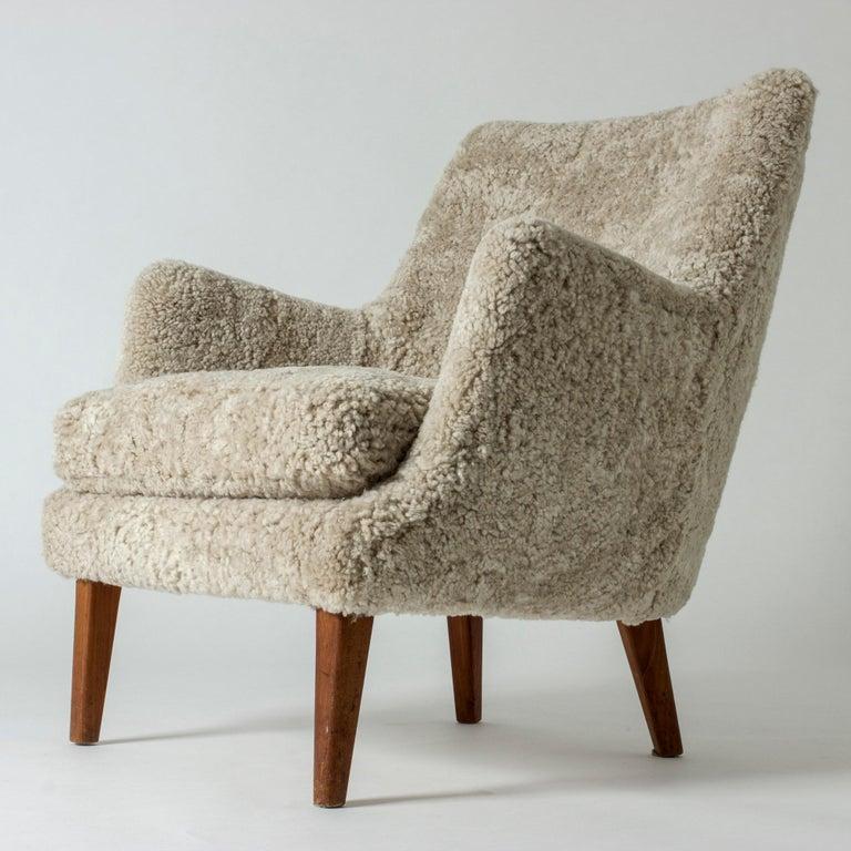 Lounge Chair by Arne Vodder for K. Ivan Schlechter, Denmark, 1950s In Good Condition For Sale In Stockholm, SE