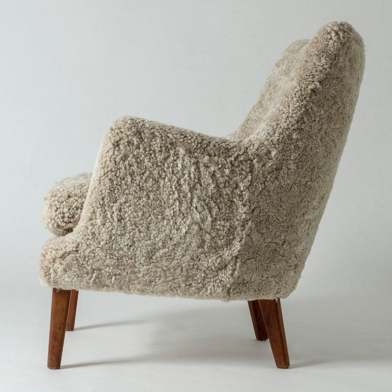 Mid-20th Century Lounge Chair by Arne Vodder for K. Ivan Schlechter, Denmark, 1950s For Sale