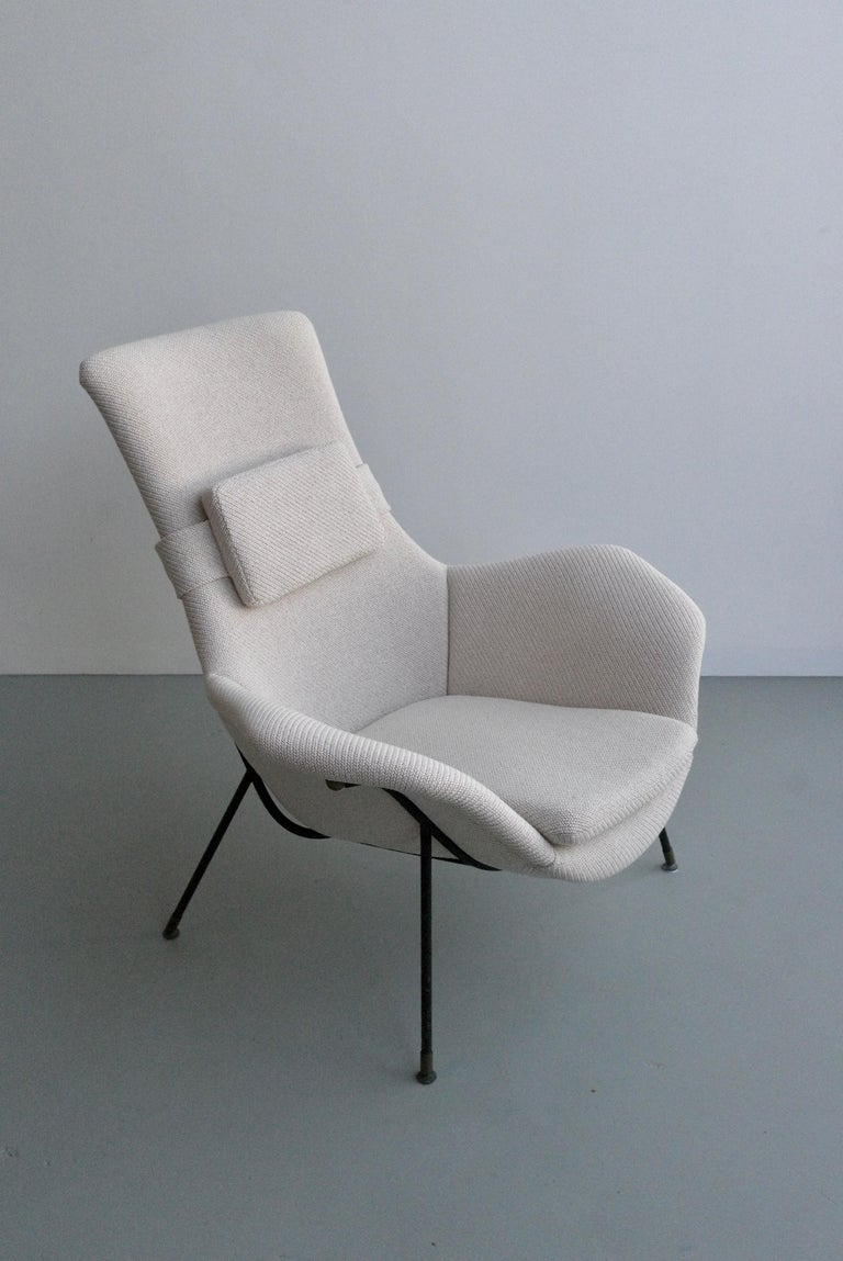 Mid-Century Modern Lounge Chair by Augusto Bozzi for Fratelli Saporiti, Italy, 1950s For Sale