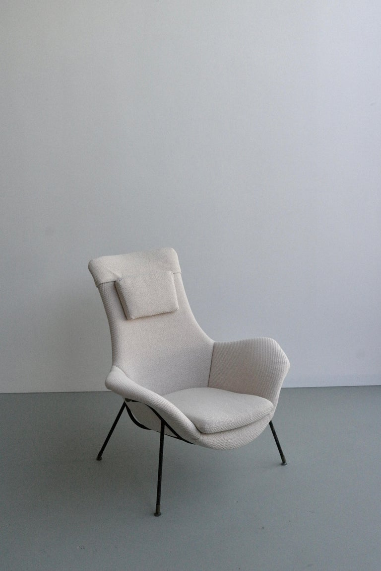 Italian Lounge Chair by Augusto Bozzi for Fratelli Saporiti, Italy, 1950s For Sale