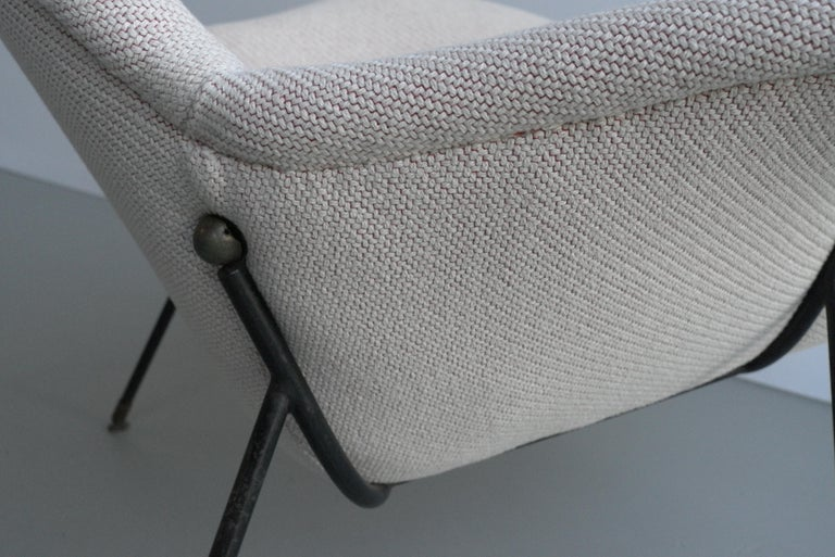 Metal Lounge Chair by Augusto Bozzi for Fratelli Saporiti, Italy, 1950s For Sale