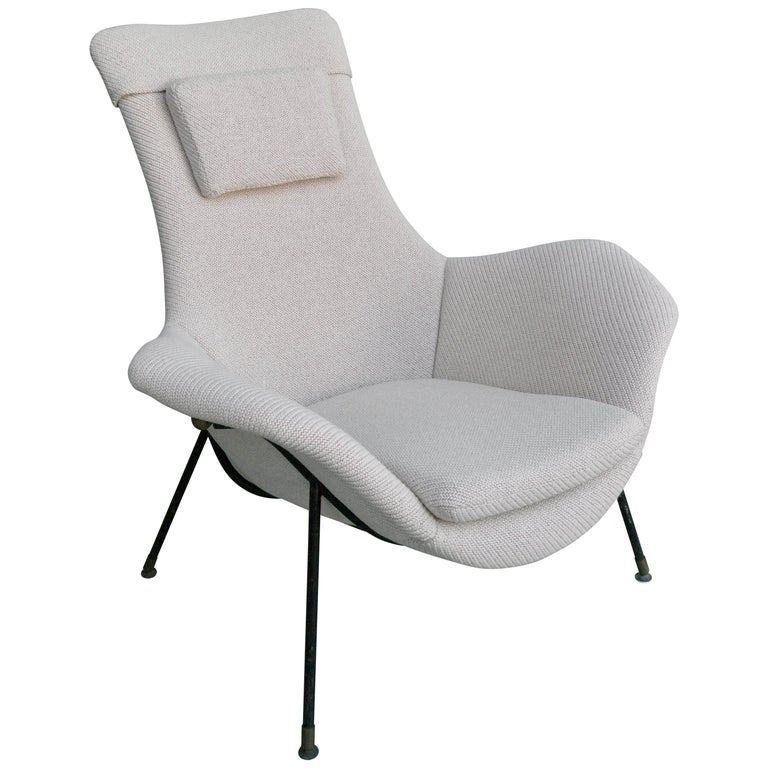 Lounge Chair by Augusto Bozzi for Fratelli Saporiti, Italy, 1950s For Sale
