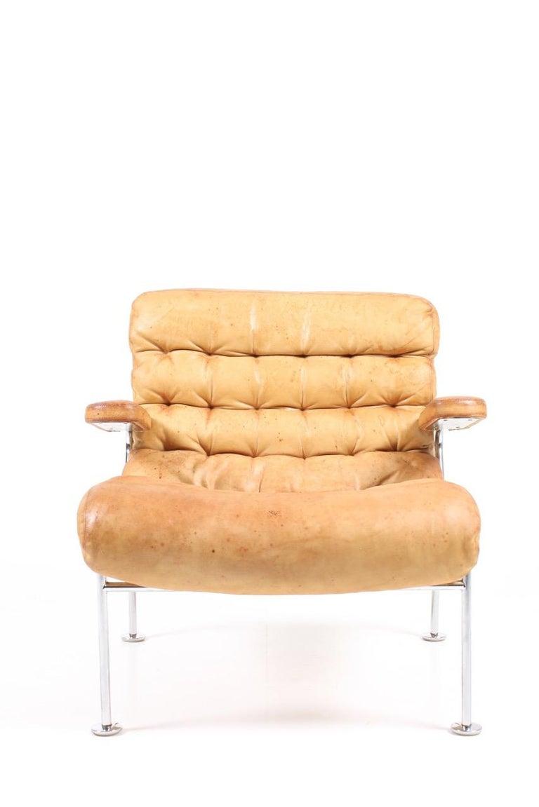 Scandinavian Modern Lounge Chair by Bruno Mathsson For Sale