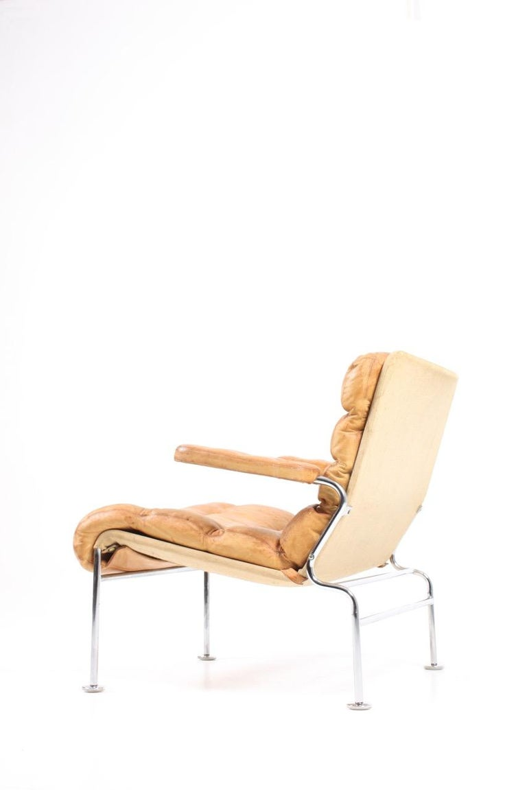Swedish Lounge Chair by Bruno Mathsson For Sale