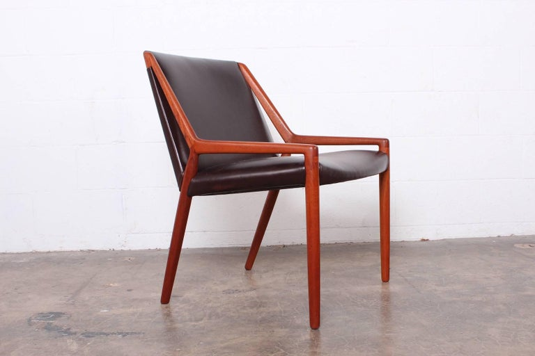 Lounge Chair by Ejner Larsen and Axel Bender Madsen for Willy Beck For Sale 5