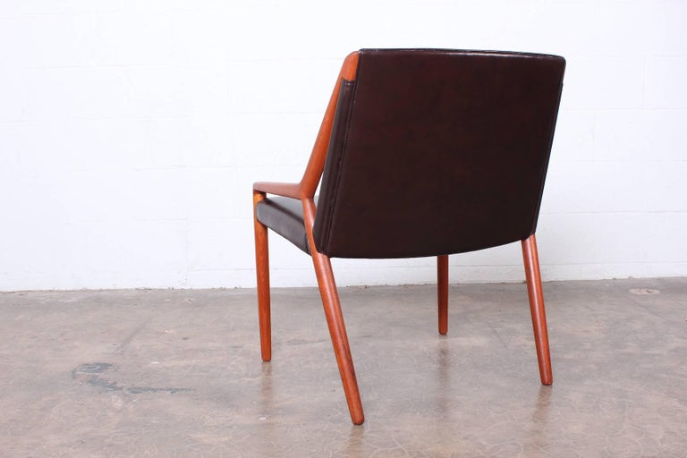 Lounge Chair by Ejner Larsen and Axel Bender Madsen for Willy Beck For Sale 2