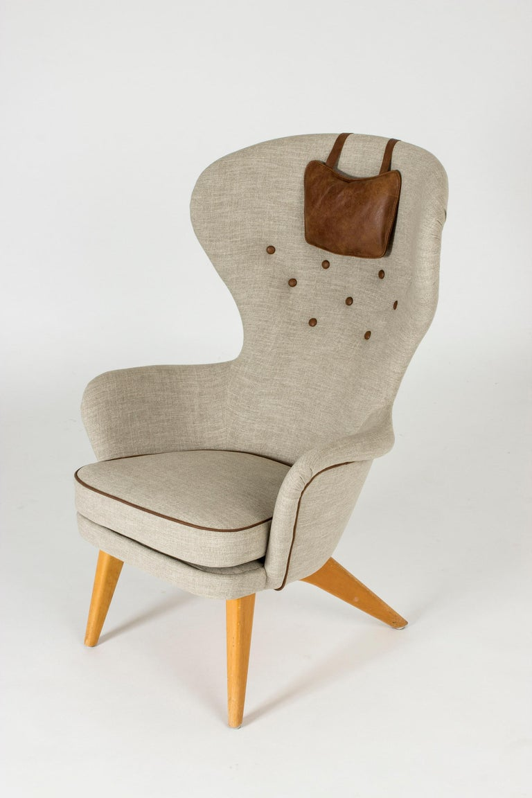 Mid-20th Century Lounge Chair by Gustaf Hiort af Ornäs For Sale