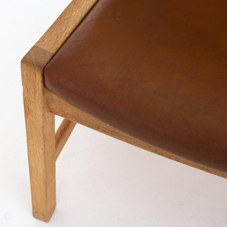 Patinated Lounge Chair by Hans J. Wegner For Sale
