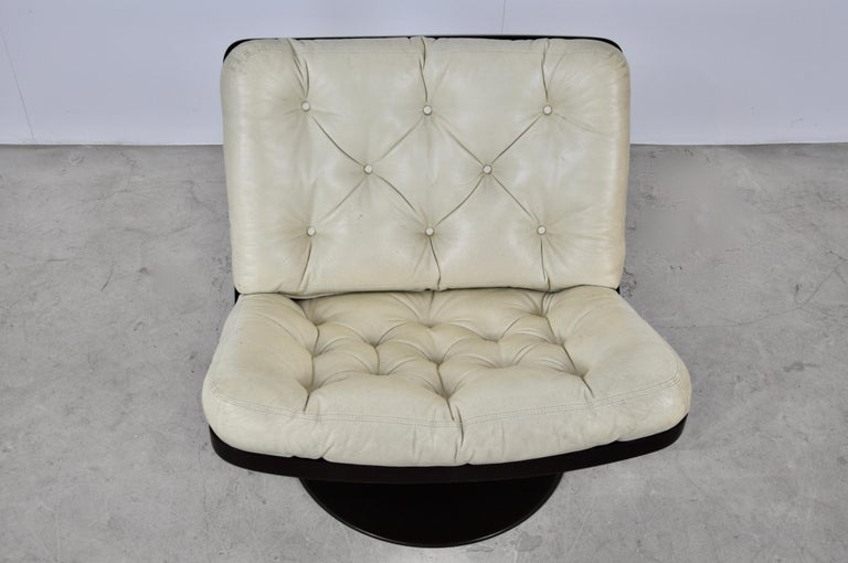 Leather Lounge Chair by IVM, 1960s For Sale