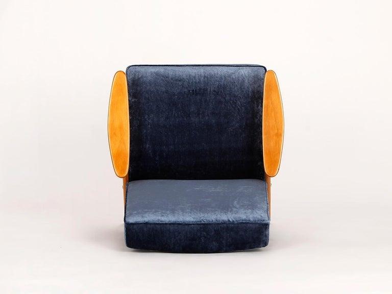 20th Century Lounge Chair by Jaroslav Smidek for Jitona, 1960s For Sale