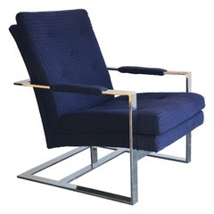 Lounge Chair by Milo Baughman for Thayer Coggin, Chrome