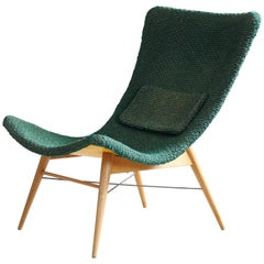 Lounge Chair by Miroslav Navratil, Customizable Upholstery, Original Condition
