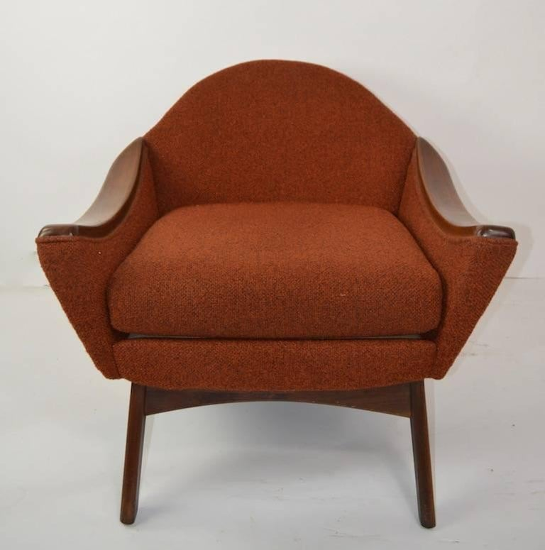 Mid-Century Modern Lounge Chair by Pearsall Hers For Sale