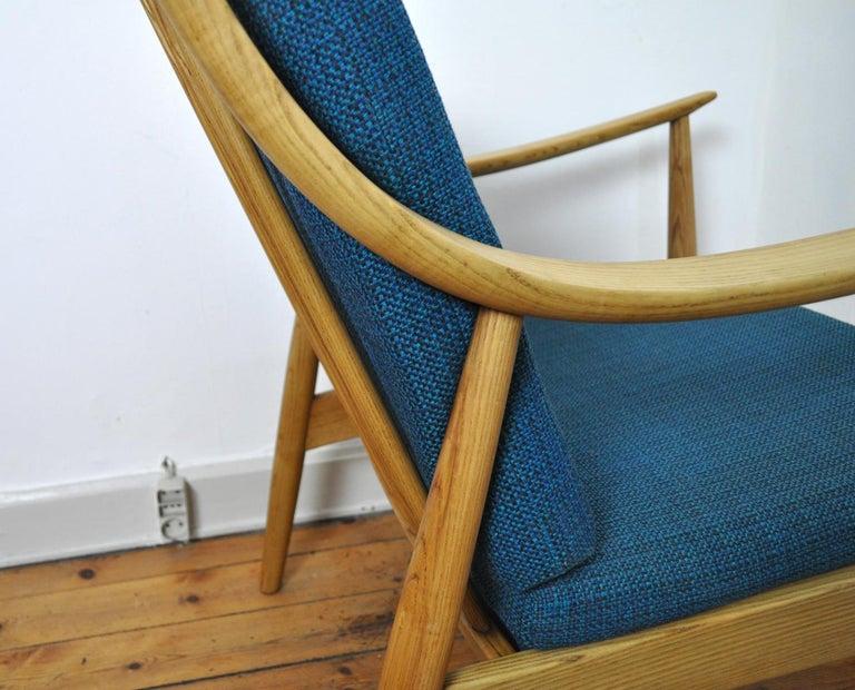 Lounge Chair by Peter Hvidt & Orla Mølgaard-Nielsen, France & Daverkosen, 1950s For Sale 5