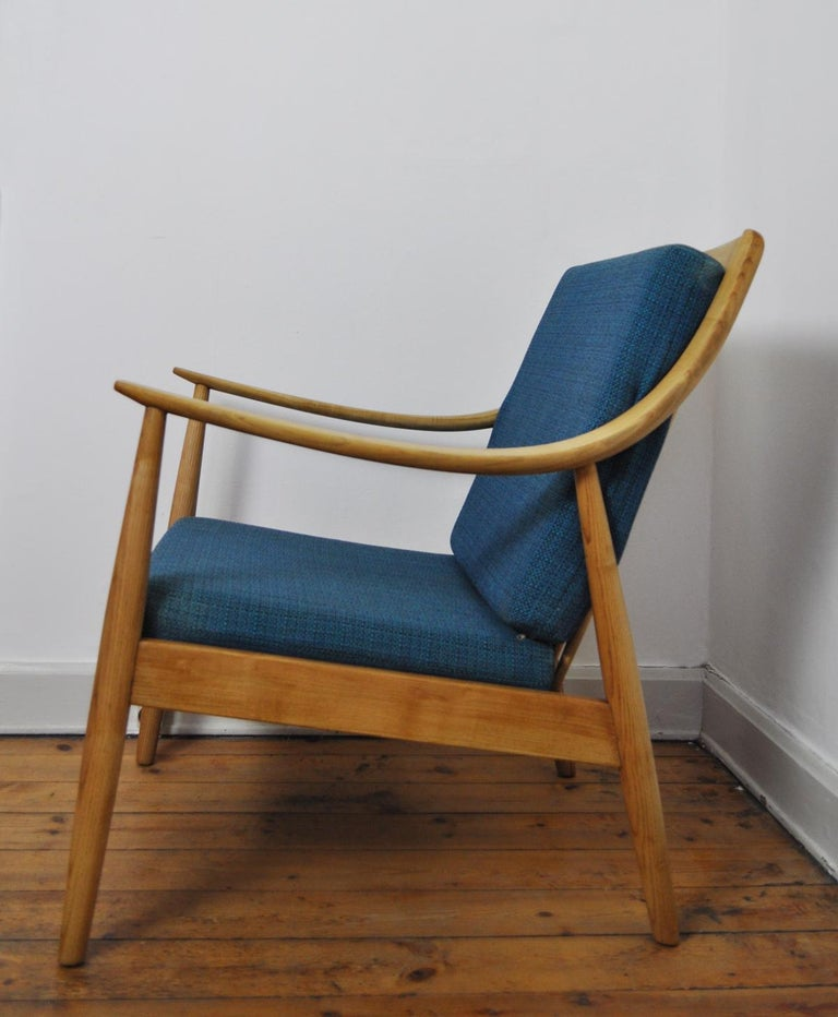 Scandinavian Modern Lounge Chair by Peter Hvidt & Orla Mølgaard-Nielsen, France & Daverkosen, 1950s For Sale