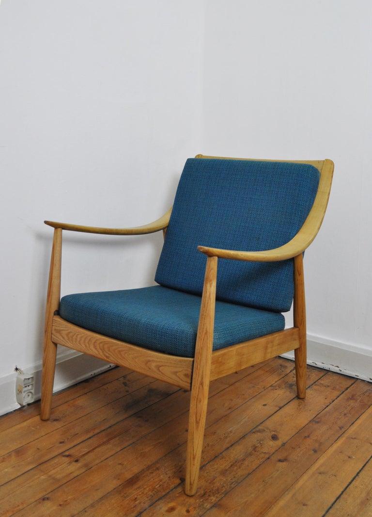 Danish Lounge Chair by Peter Hvidt & Orla Mølgaard-Nielsen, France & Daverkosen, 1950s For Sale