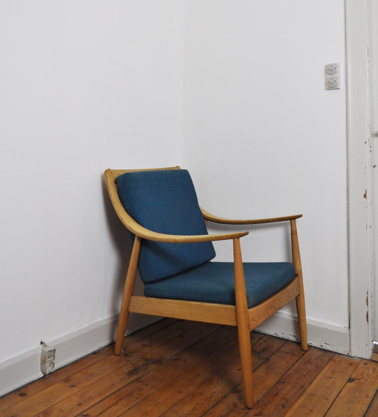 Lounge Chair by Peter Hvidt & Orla Mølgaard-Nielsen, France & Daverkosen, 1950s In Good Condition For Sale In Vordingborg, DK