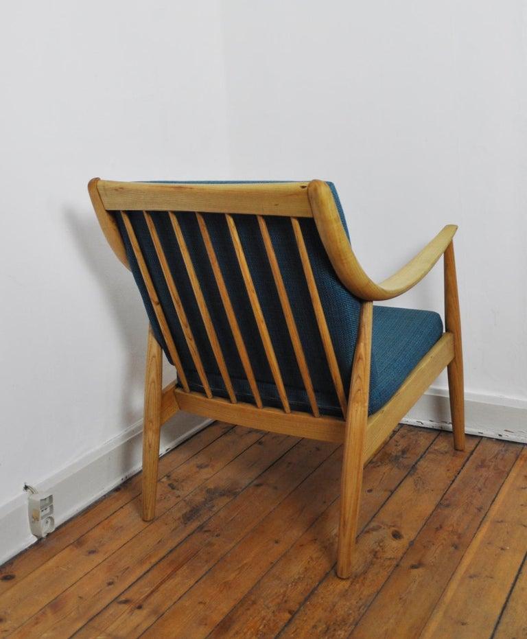 Mid-20th Century Lounge Chair by Peter Hvidt & Orla Mølgaard-Nielsen, France & Daverkosen, 1950s For Sale