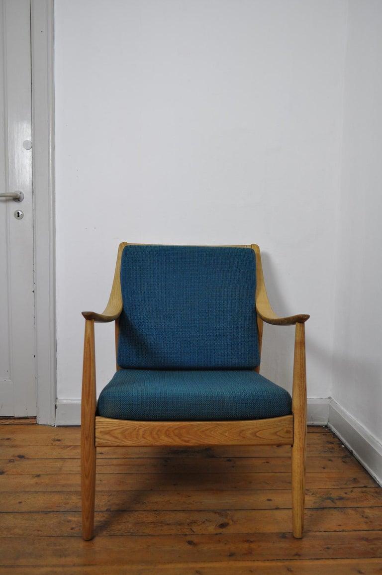 Fabric Lounge Chair by Peter Hvidt & Orla Mølgaard-Nielsen, France & Daverkosen, 1950s For Sale