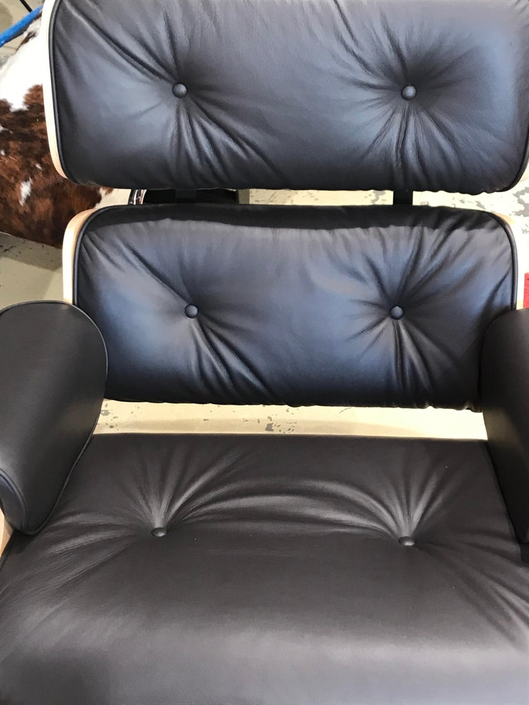 American Lounge Chair Charles Eames and Ottoman, 2015 For Sale