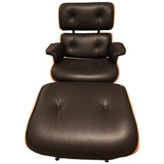 Lounge Chair Charles Eames and Ottoman, Chocolate Rosewood