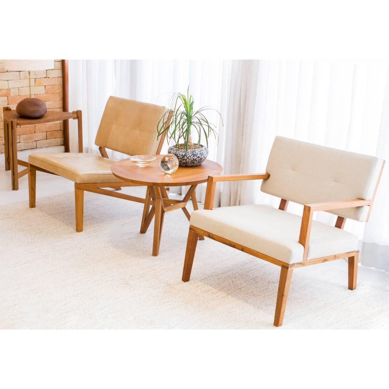 Modern Lounge Chair Cim Made of Tropical Hardwood in Brazilian Contemporary Design For Sale