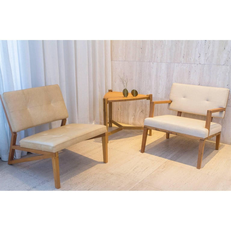Lounge Chair Cim Made of Tropical Hardwood in Brazilian Contemporary Design For Sale 2