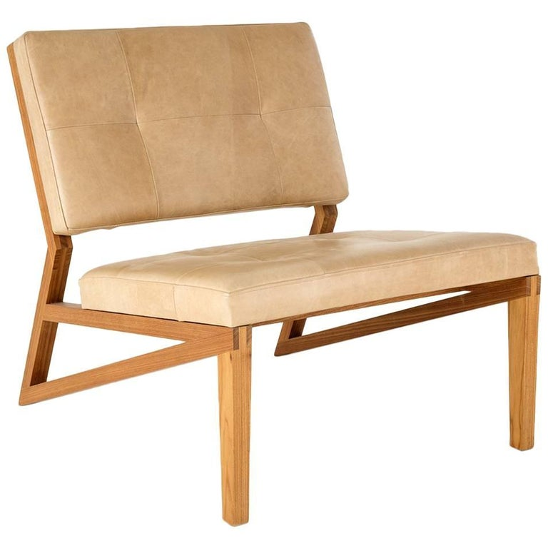Lounge Chair Cim Made of Tropical Hardwood in Brazilian Contemporary Design For Sale