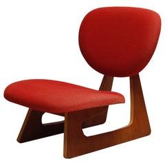 Lounge Chair Designed by Junzo Sakakura Manufactured by Tendo Mokko, 1970s