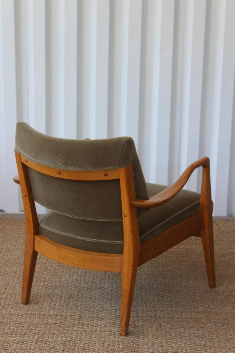 Cerused Lounge Chair Designed by Paul Laszlo for Brown Saltman, U.S.A, 1950s