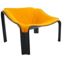 Lounge Chair F300 by Pierre Paulin 1967 for Artifort in Black and Orange